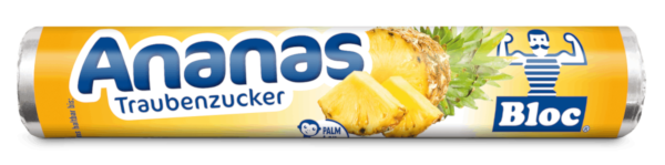 Bloc Traubenzucker Ananas Rolle Packshot